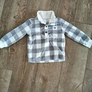 2/$15 Carter's plaid fleece sweater 3t